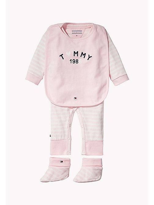 TOMMY HILFIGER Playsuit, Bib and Booties Gift Set - BALLERINA - TOMMY HILFIGER Girls - main image