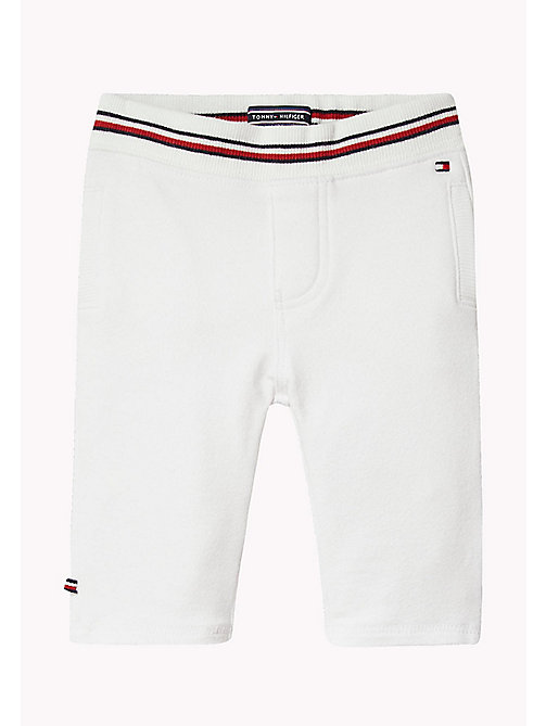 TOMMY HILFIGER Stripe Baby Trousers - BRIGHT WHITE - TOMMY HILFIGER Boys - main image