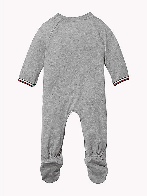 TOMMY HILFIGER Varsity Babygrow - GREY HEATHER -  Babies - detail image 1