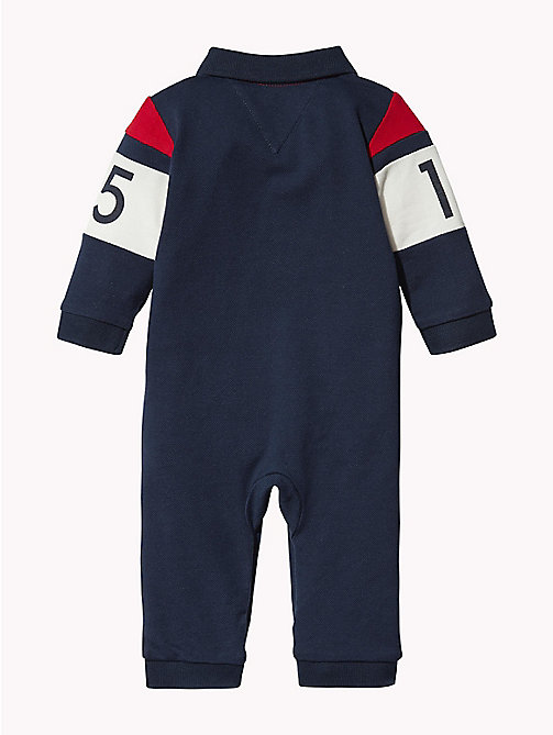 TOMMY HILFIGER Colour-Blocked Logo Babygrow - BLACK IRIS/MULTI - TOMMY HILFIGER Babies - detail image 1