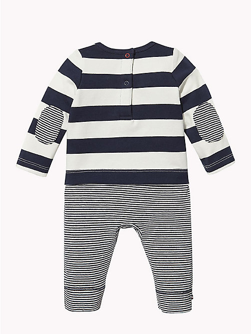 TOMMY HILFIGER Baby Stripe Babygrow - BLACK IRIS - TOMMY HILFIGER Babies - detail image 1