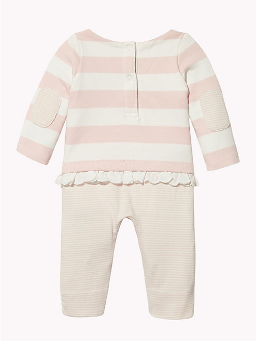 TOMMY HILFIGER Baby Stripe Babygrow - STRAWBERRY CREAM - TOMMY HILFIGER Babies - detail image 1