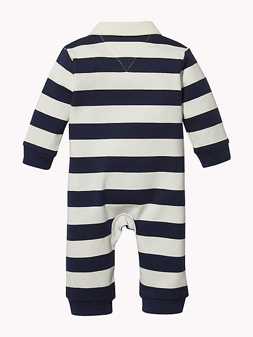 TOMMY HILFIGER Baby Rugby Stripe Babygrow - BLACK IRIS - TOMMY HILFIGER Boys - detail image 1