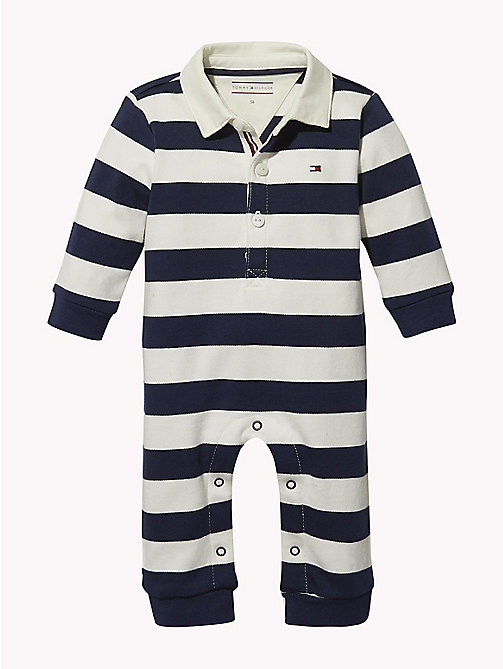 TOMMY HILFIGER Baby Rugby Stripe Babygrow - BLACK IRIS - TOMMY HILFIGER Boys - main image