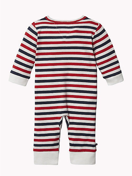 TOMMY HILFIGER Baby Stripe Babygrow - MARSHMALLOW - TOMMY HILFIGER Boys - detail image 1