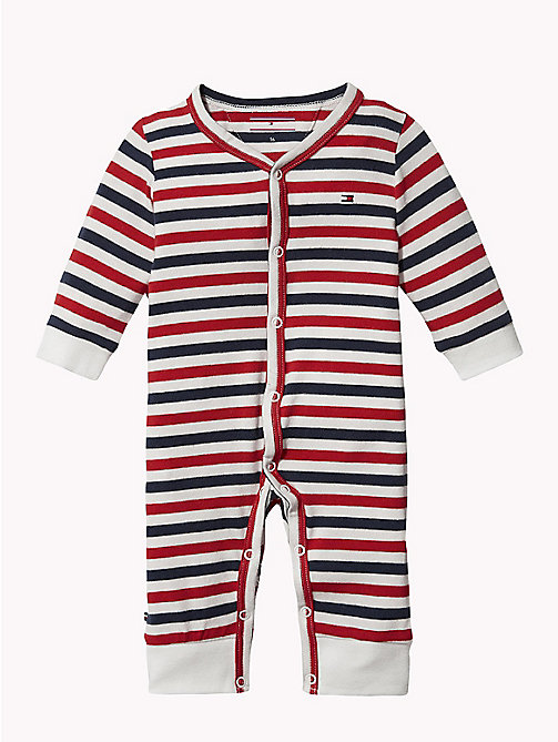 TOMMY HILFIGER Baby Stripe Babygrow - MARSHMALLOW - TOMMY HILFIGER Boys - main image