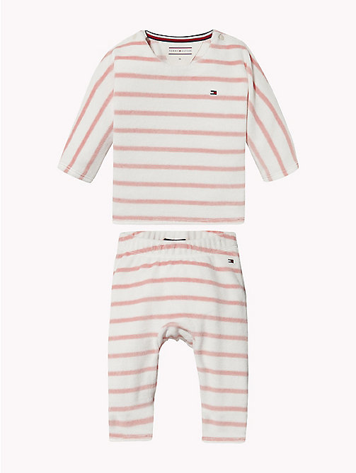 TOMMY HILFIGER Baby Stripe Two-Piece - BLUSH -  Babies - main image