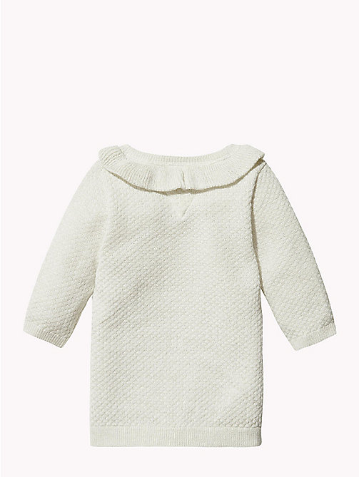 TOMMY HILFIGER Baby Ruffle Jumper Dress - MARSHMALLOW - TOMMY HILFIGER Girls - detail image 1