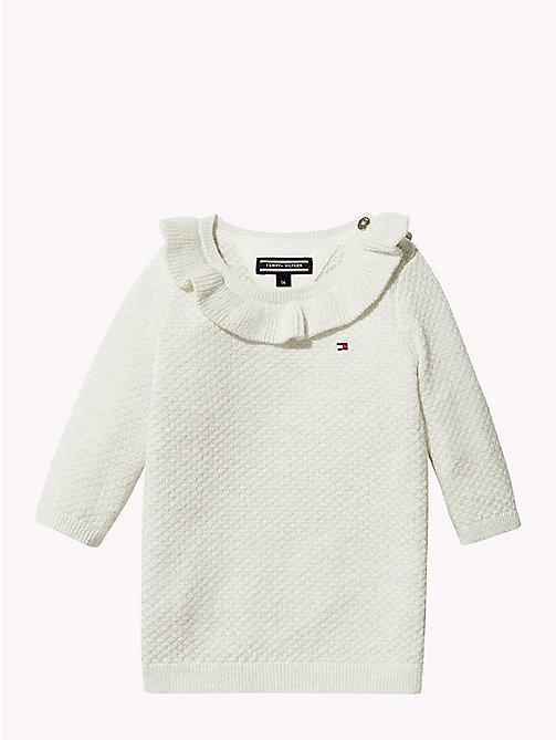 TOMMY HILFIGER Baby Ruffle Jumper Dress - MARSHMALLOW - TOMMY HILFIGER Girls - main image