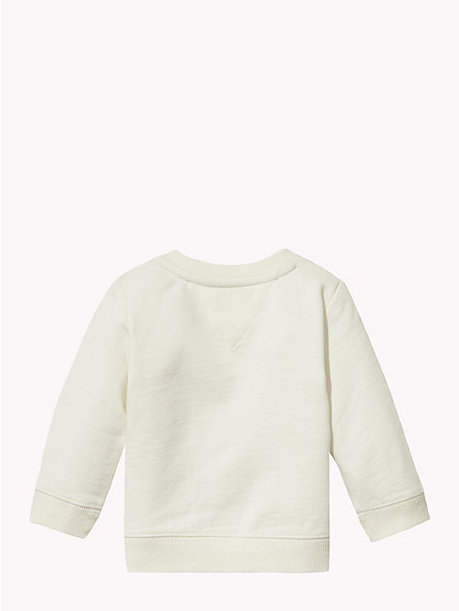 TOMMY HILFIGER Baby Letter Print Sweatshirt - MARSHMALLOW - TOMMY HILFIGER Boys - detail image 1