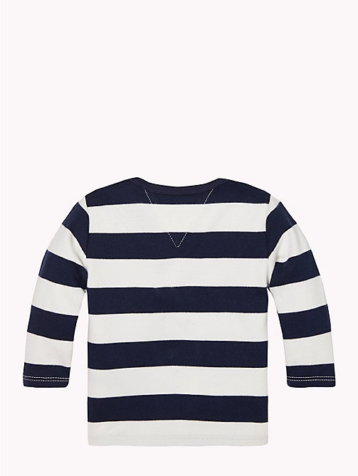 TOMMY HILFIGER Baby Rugby Stripe Cotton Top - BLACK IRIS / MARSHMALLOW - TOMMY HILFIGER Boys - detail image 1