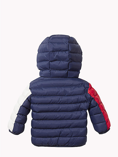 TOMMY HILFIGER Baby Colour-Blocked Puffer Jacket - BLACK IRIS/MULTI - TOMMY HILFIGER Babies - detail image 1