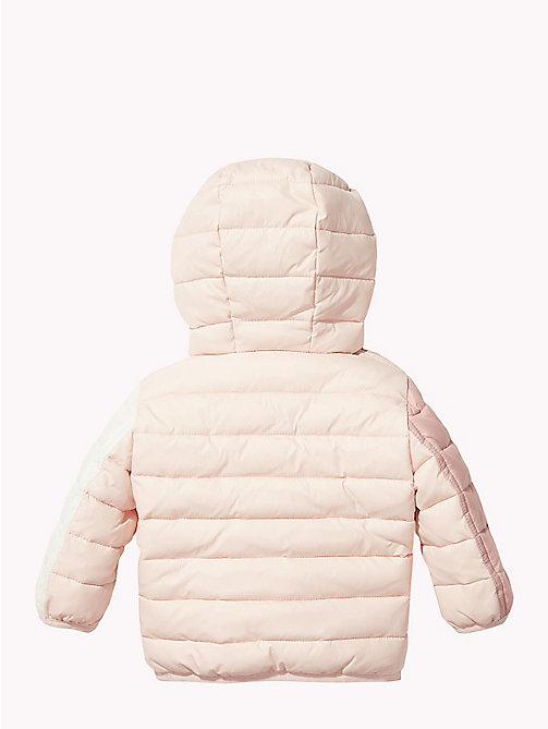 TOMMY HILFIGER Baby Colour-Blocked Puffer Jacket - STRAWBERRY CREAM/MULTI - TOMMY HILFIGER Girls - detail image 1