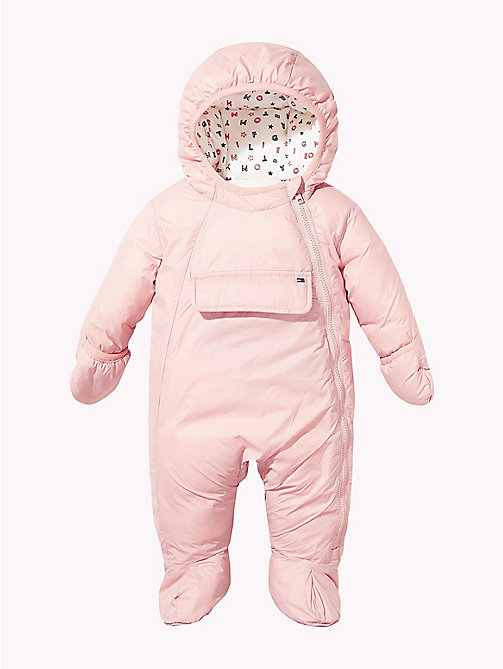 TOMMY HILFIGER Baby Colour-Blocked Ski Suit - BLUSH - TOMMY HILFIGER Girls - main image