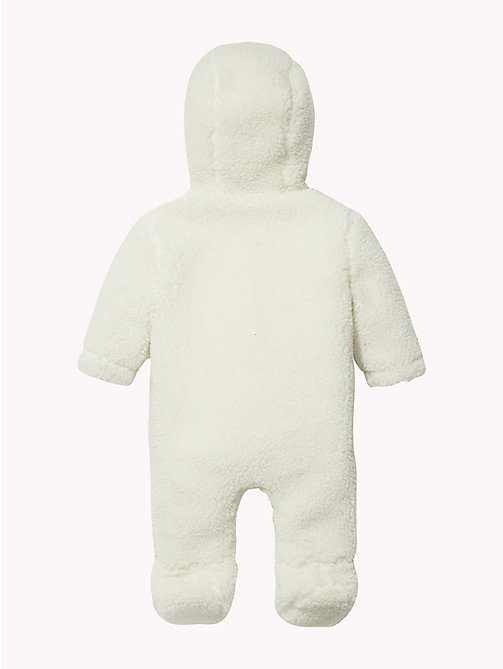 TOMMY HILFIGER Teddy Fleece Babygrow - MARSHMALLOW - TOMMY HILFIGER Girls - detail image 1