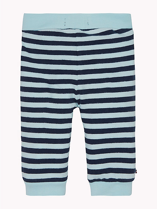 TOMMY HILFIGER Baby Double Stripe Cuffed Bottoms - BLACK IRIS/CORYDALIS BLUE - TOMMY HILFIGER Boys - detail image 1