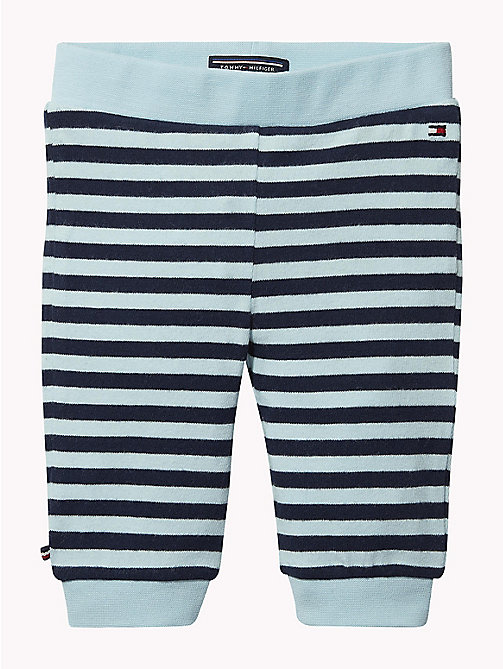TOMMY HILFIGER Baby Double Stripe Cuffed Bottoms - BLACK IRIS/CORYDALIS BLUE - TOMMY HILFIGER Babies - main image