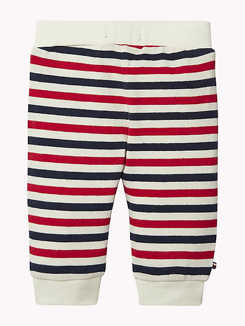 TOMMY HILFIGER Baby Double Stripe Cuffed Bottoms - MARSHMALLOW / MULTI - TOMMY HILFIGER Boys - detail image 1