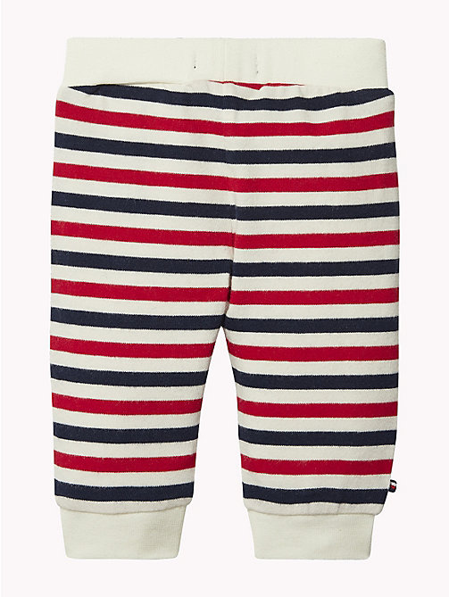 TOMMY HILFIGER Baby Double Stripe Cuffed Bottoms - MARSHMALLOW/MULTI - TOMMY HILFIGER Boys - detail image 1