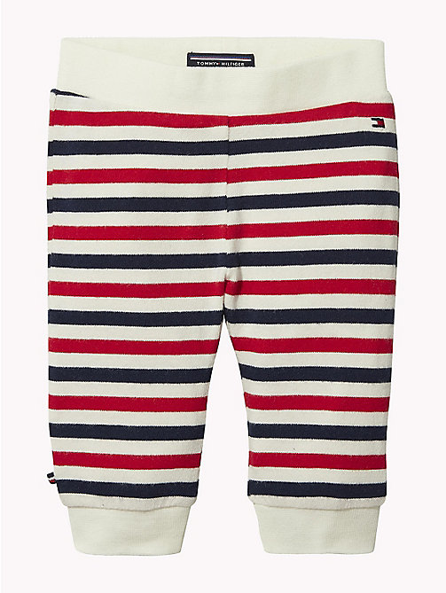 TOMMY HILFIGER Baby Double Stripe Cuffed Bottoms - MARSHMALLOW / MULTI - TOMMY HILFIGER Babies - main image