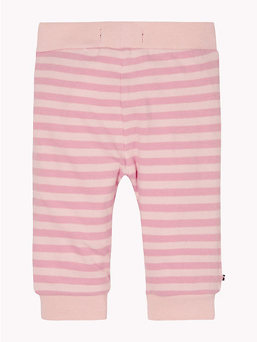 TOMMY HILFIGER Baby Double Stripe Cuffed Bottoms - STRAWBERRY CREAM/BLUSH - TOMMY HILFIGER Girls - detail image 1