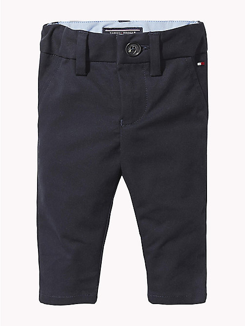 TOMMY HILFIGER Baby Chino Trousers - BLACK IRIS - TOMMY HILFIGER Boys - main image