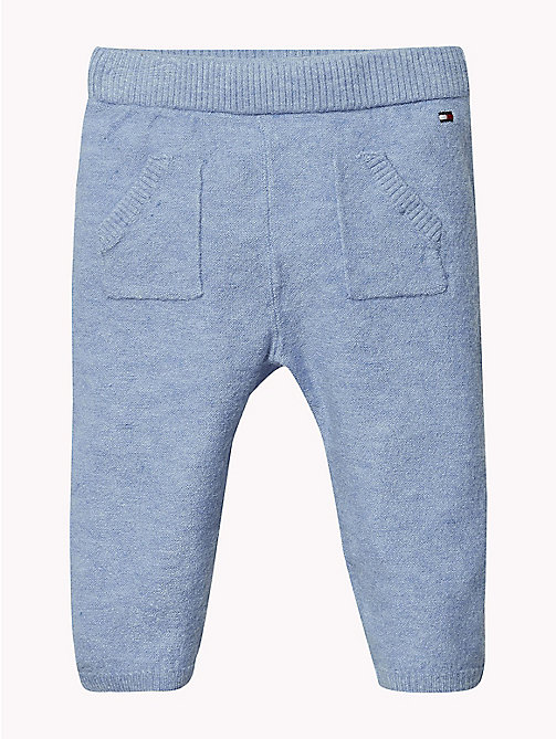 TOMMY HILFIGER Baby Knitted Trousers - DUSK BLUE - TOMMY HILFIGER Boys - main image