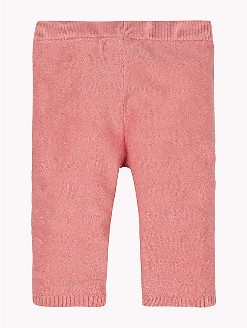 TOMMY HILFIGER Baby Knitted Trousers - BLUSH - TOMMY HILFIGER Girls - detail image 1