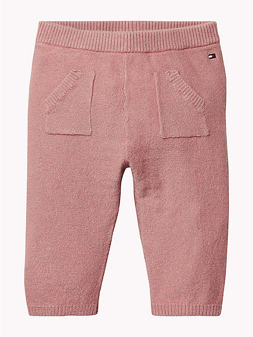TOMMY HILFIGER Baby Knitted Trousers - BLUSH - TOMMY HILFIGER Girls - main image
