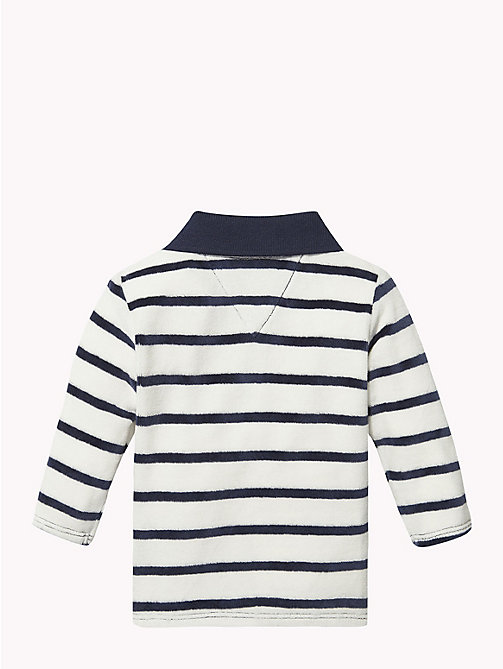 TOMMY HILFIGER Baby Stripe Velour Polo - BLACK IRIS - TOMMY HILFIGER Boys - detail image 1
