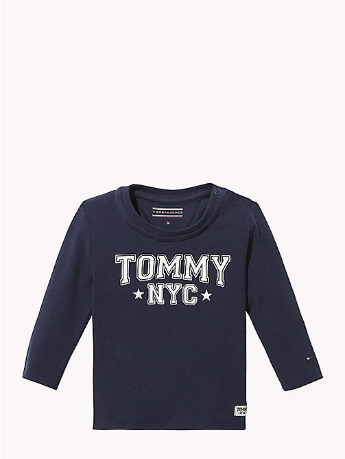 TOMMY HILFIGER Baby Tommy Long-Sleeved T-Shirt - BLACK IRIS - TOMMY HILFIGER Babies - main image