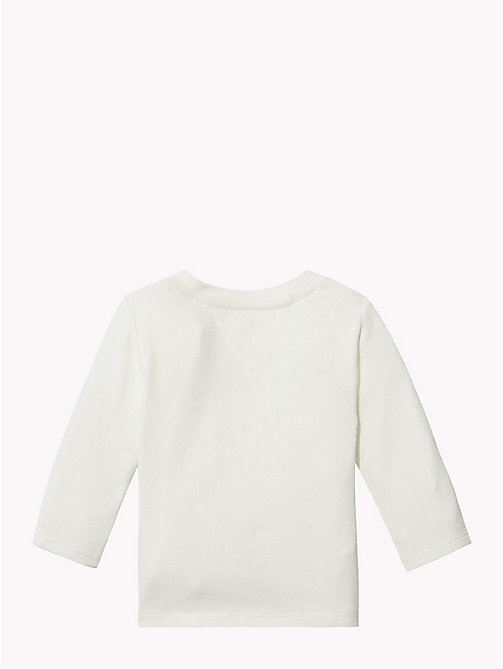 TOMMY HILFIGER Baby Logo Long-Sleeve T-Shirt - MARSHMALLOW - TOMMY HILFIGER Girls - detail image 1