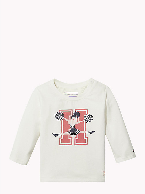 TOMMY HILFIGER Baby Logo Long-Sleeve T-Shirt - MARSHMALLOW - TOMMY HILFIGER Girls - main image