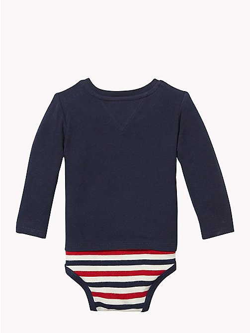 TOMMY HILFIGER Baby Logo T-Shirt Body - BLACK IRIS - TOMMY HILFIGER Boys - detail image 1