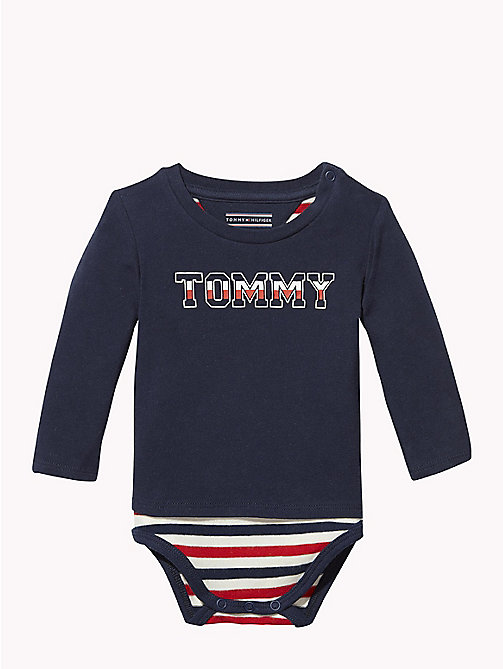 TOMMY HILFIGER Baby Logo T-Shirt Body - BLACK IRIS - TOMMY HILFIGER Babies - main image