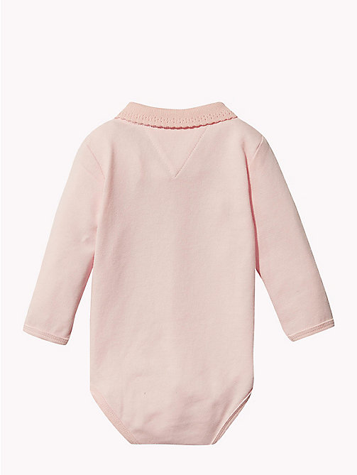TOMMY HILFIGER Baby Polo Shirt Body Gift Set - STRAWBERRY CREAM - TOMMY HILFIGER Girls - detail image 1