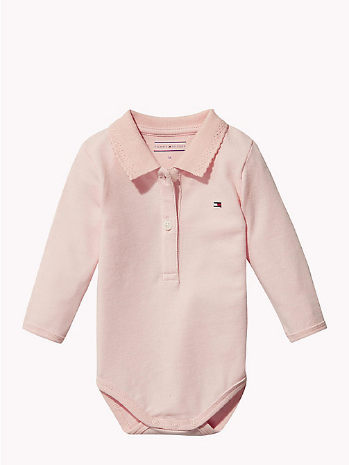 TOMMY HILFIGER Baby Polo Shirt Body Gift Set - STRAWBERRY CREAM - TOMMY HILFIGER Girls - main image