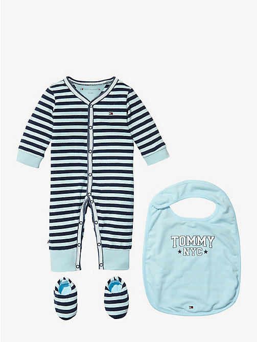 TOMMY HILFIGER Gestreepte baby-cadeauset - BLACK IRIS - TOMMY HILFIGER Jongens - main image
