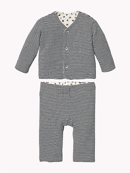 TOMMY HILFIGER Baby Reversible Two-Piece Gift Set - BLACK IRIS - TOMMY HILFIGER Babies - main image