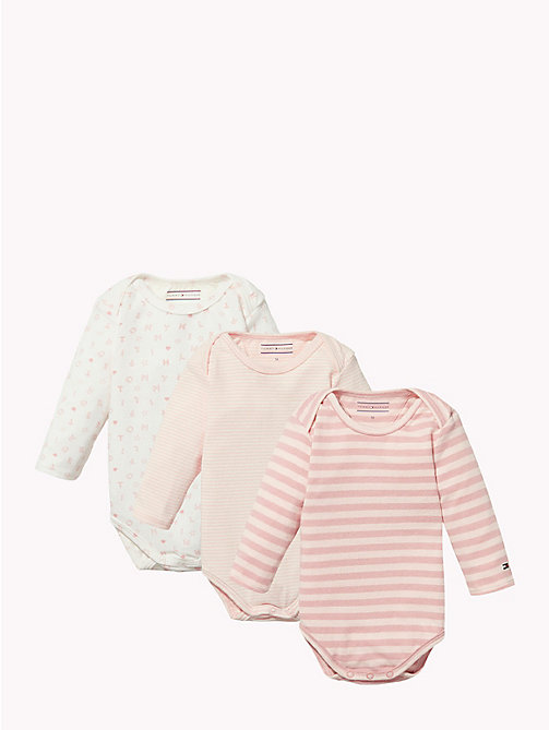 TOMMY HILFIGER Baby Three-Pack Body Gift Set - BLUSH - TOMMY HILFIGER Girls - main image