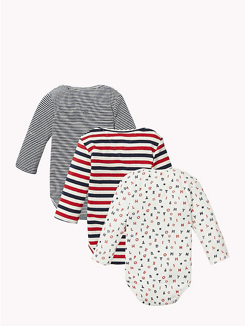 TOMMY HILFIGER Baby Three-Pack Body Gift Set - APPLE RED - TOMMY HILFIGER Babies - detail image 1