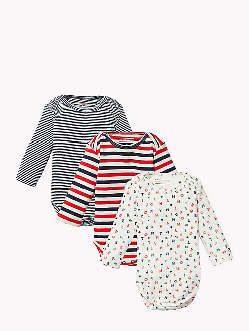 TOMMY HILFIGER Baby Three-Pack Body Gift Set - APPLE RED - TOMMY HILFIGER Boys - main image