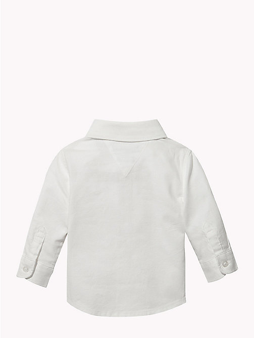 TOMMY HILFIGER Baby Organic Cotton Oxford Shirt - BRIGHT WHITE - TOMMY HILFIGER Babies - detail image 1