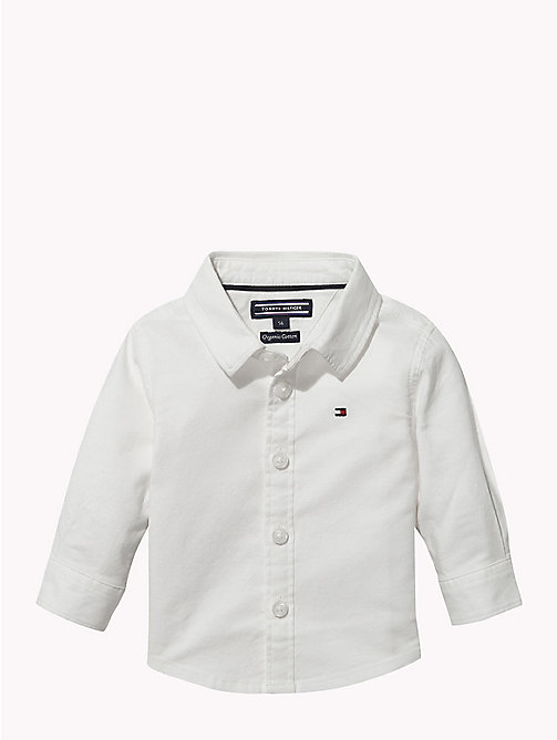 TOMMY HILFIGER Baby Organic Cotton Oxford Shirt - BRIGHT WHITE - TOMMY HILFIGER Babies - main image