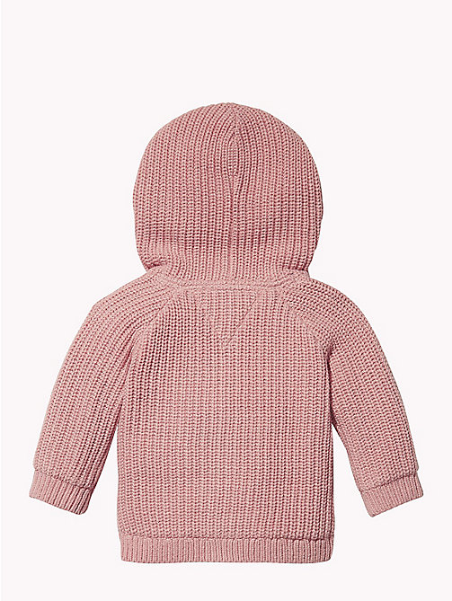 TOMMY HILFIGER Baby Textured Hooded Cardigan - BLUSH - TOMMY HILFIGER Girls - detail image 1