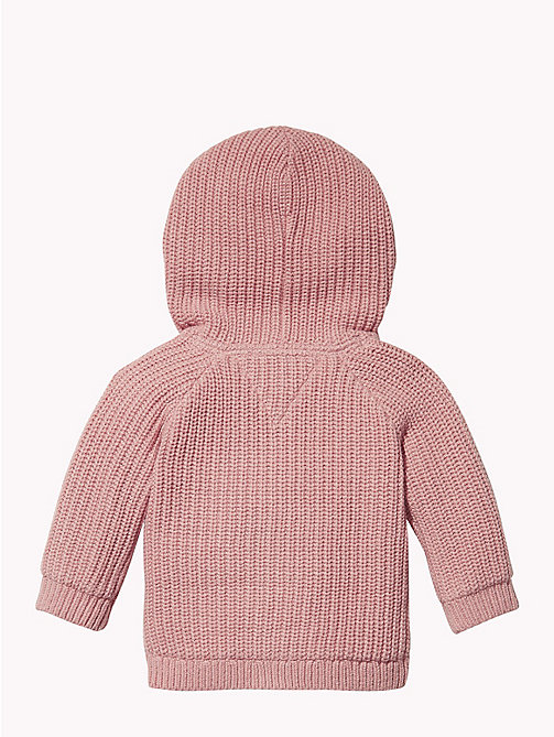 TOMMY HILFIGER Baby Textured Hooded Cardigan - BLUSH - TOMMY HILFIGER Babies - detail image 1