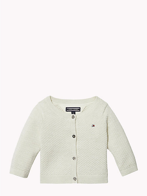 TOMMY HILFIGER Baby Lurex Cardigan - MARSHMALLOW - TOMMY HILFIGER Babies - main image