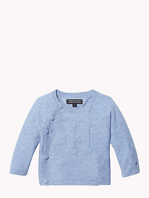 TOMMY HILFIGER Baby Knitted Logo Cardigan - DUSK BLUE - TOMMY HILFIGER Babies - main image