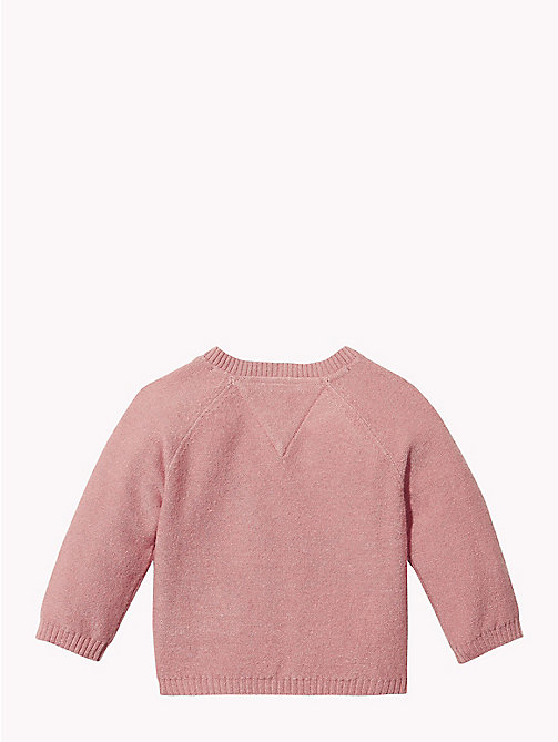 TOMMY HILFIGER Baby Knitted Logo Cardigan - BLUSH - TOMMY HILFIGER Girls - detail image 1