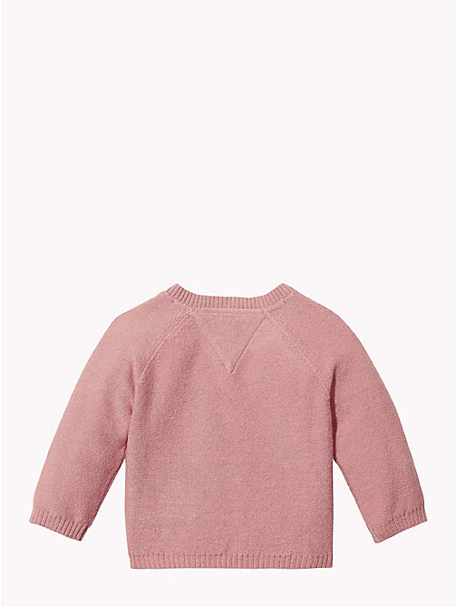 TOMMY HILFIGER Baby Knitted Logo Cardigan - BLUSH - TOMMY HILFIGER Babies - detail image 1